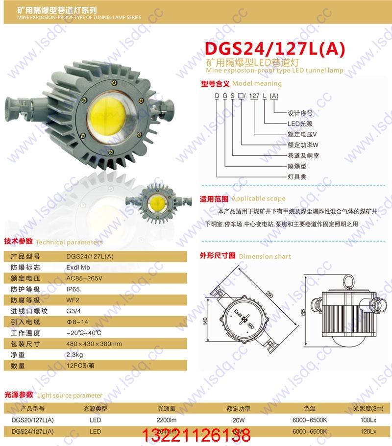 DGS24/127L(B)LED方形巷道灯